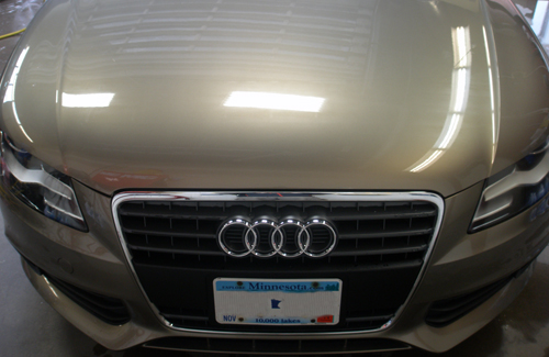 Audi clear bra installed at Dent Werks PDR in Delano, MN
