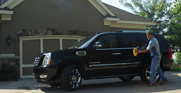 Cadillac Escalade repaired using PDR and delivered to our customer.